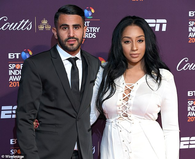 Rita Johal (pictured with Mahrez in 2017) says her former husband's 2018 move to City from Leicester caused a breakdown in their marriage
