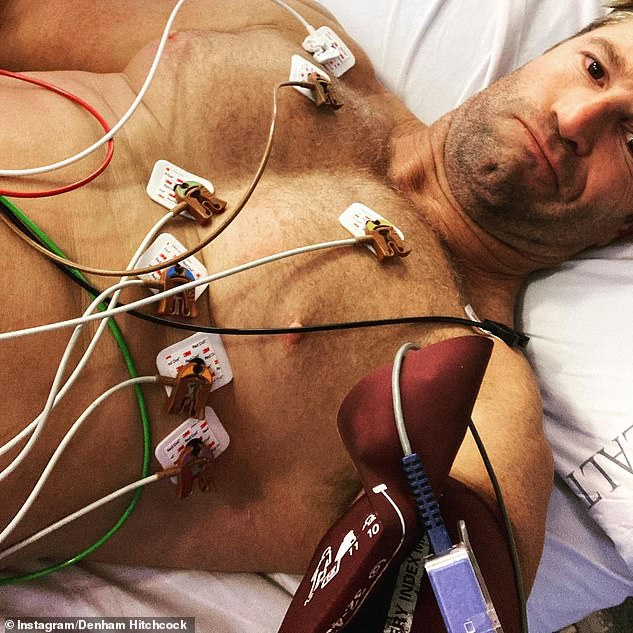 Lee's side effect comes after Denham Hitchcock, a father of one, was hospitalised and diagnosed with pericarditis - inflammation of sac-like tissue that surrounds the heart - after he rolled up his sleeve for a Covid vaccine on the Gold Coast