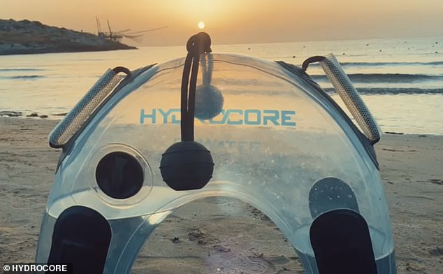 A bizarre water-filled fitness bag beloved by Hollywood celebrities is launching in Australia - and it promises to give you your best body yet (HydroCore pictured)