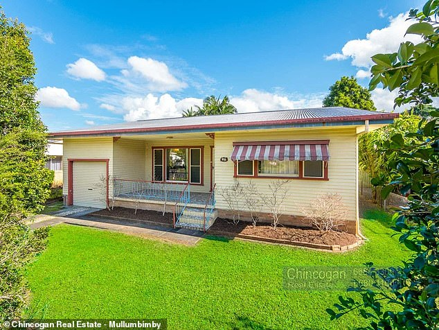 The median house price in Mullumbimby is over $1.5 million. The modest house above is currently under offer at $1.1 million
