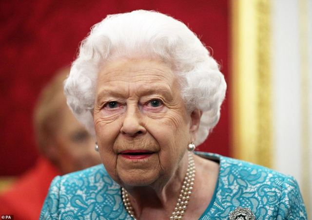 Mr Farage blasted him for making the political statements on behalf of the monarch (pictured) while Mr Clarke-Smith said it was wrong for him to try to bring her into the political arena