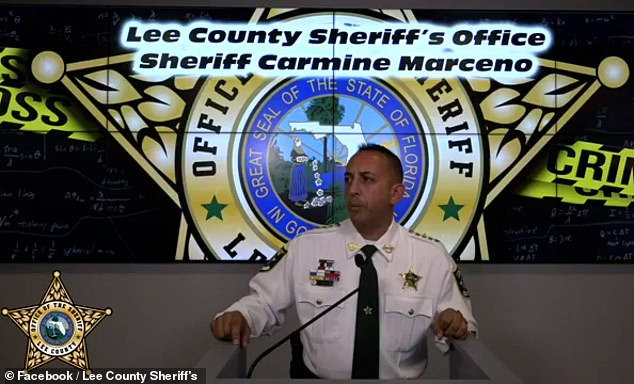 Lee County Sheriff Carmine Marceno (pictured) said the students took an interest in the Columbine High School shooting and were 'extensively studying' the incident