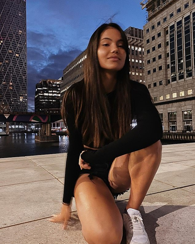 Emma Raducanu's (pictured) career is without a doubt going to get bigger and better - with the teenage tennis sensation set to become a 'worldwide household celebrity', according to a branding expert