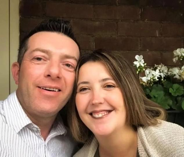 Scott Walker, 51, was jailed for at least 32 years for the murder of 17-year-old Bernadette who called him dad after she told him and her mother Sarah, 38, he had sexually abused her. Pictured: Scott and Sarah