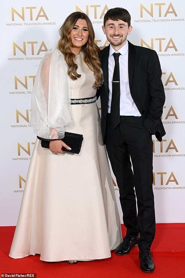 Big announcement: The Gogglebox star confirmed the news at the National Television Awards Thursday night, which he attended with his sister and co-star Sophie (pictured)