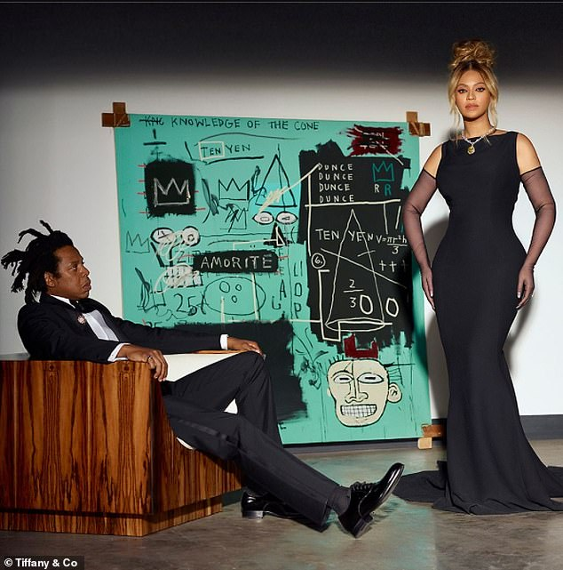 Good hearts:Tiffany & Co. Chief Sustainability Officer Anisa Kamadoli Costa praised Beyoncé and JAY-Z for 'their relentless dedication to lifting underrepresented groups is the inspiration for the About Love Scholarship program'