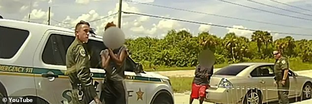 The officers pulled over a car on West New Haven Avenue in Melbourne, Florida, in a routine traffic stop off of I-95 on Monday, August 30. When Potters asked a passenger to exit the car, Wilder jumped out 'with a small stock AR-15-styled rifle' and started shooting