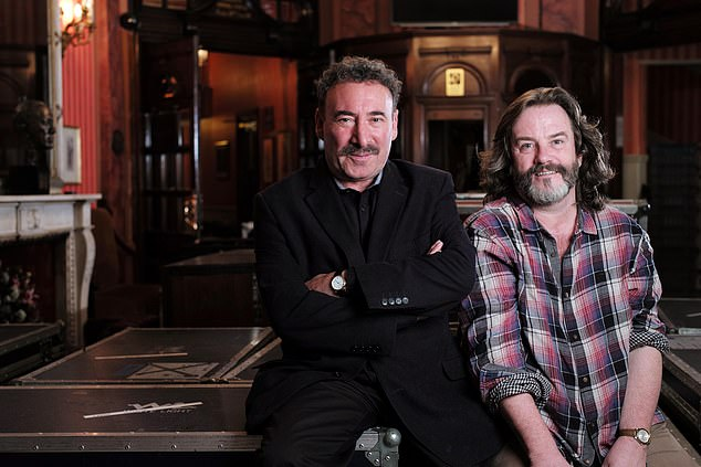 Greg Doran, right, also announced he would be taking compassionate leave from his role as artistic director of the Royal Shakespeare Company to care for Sir Antony, 72, left