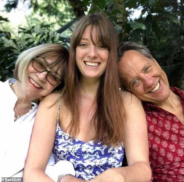 Joan and Richard pictured with their daughter Olivia. Richard revealed he and his wife were talking and joking up until the moment she died