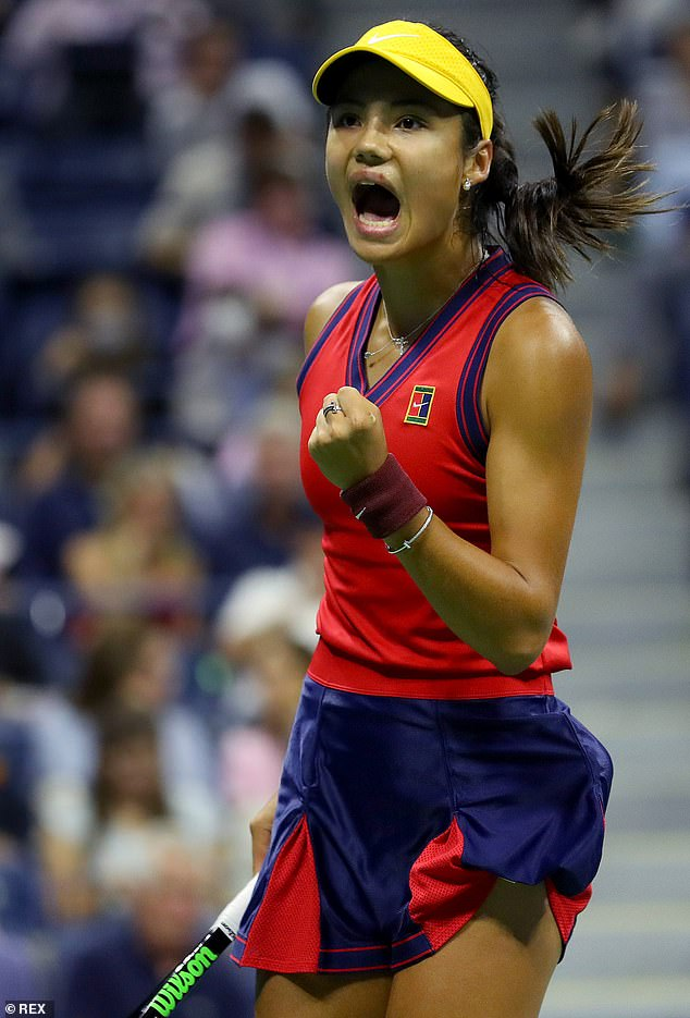Smashing records on her way to the US Open final, Emma (pictured) will earn £1.44m if she wins, and the loser's cheque for £865,000 is four times her career earnings to date