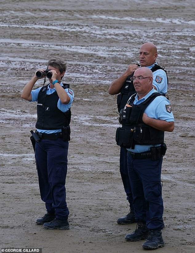 At least some of the northern coast of France was being closely monitored for migrants leaving for Britain