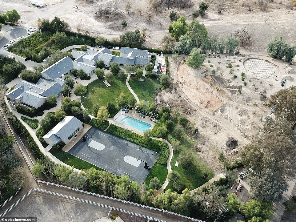 Risky:At minimum it was said that Kim's plans would 'cause irreparable harm to the destruction of two hills of Hidden Hills,' before the issue of resident harm was brought up on account of the high-pressure gas lines running near the property