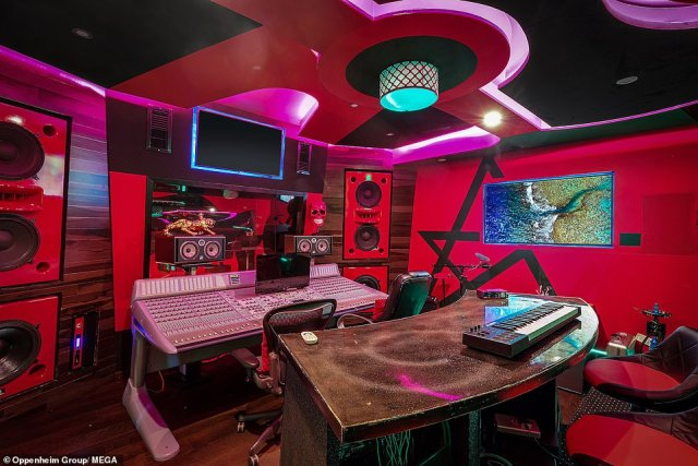 Working hard: French Montana made extensive renovations to the property, and built a state-of-the-art recording studio on its grounds