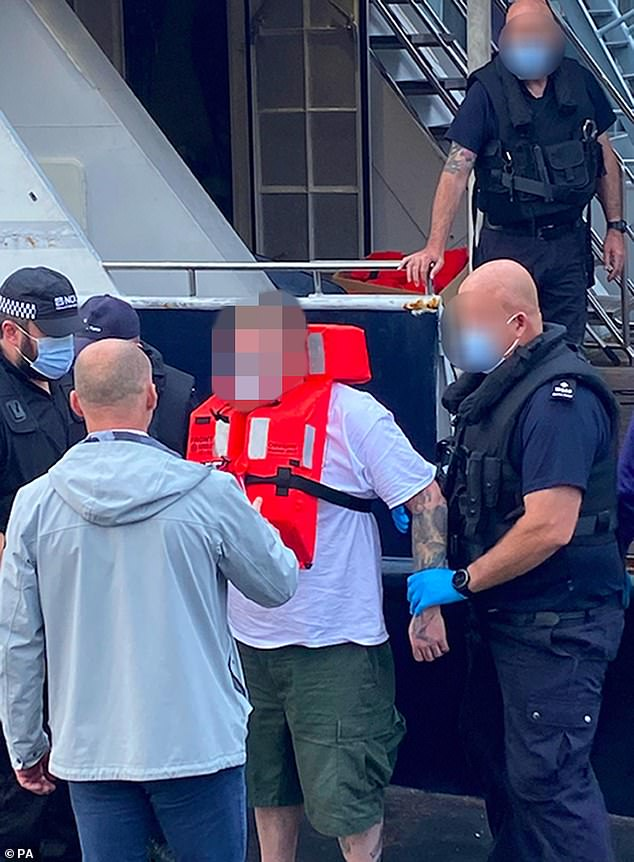 British suspect Andrew Cole, 32, (pictured), from Stockton on Tees, County Durham, was one of six men to be arrested some 80 miles off the coast of Plymouth on Thursday evening in a £120-million cocaine bust