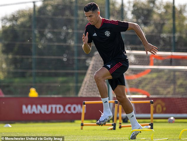 The Portuguese star, 36, has been working hard in training ahead of his second spell at United