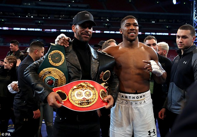 United legend Rio Ferdinand (left) and heavyweight champion Anthony Joshua (right) have praised Ronaldo for his dedication to being the best he can be