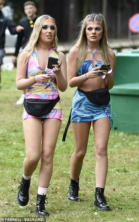Revellers at Parklife Festival in Heston Park, Manchester, let loose as they dust off their summer wardobe in the 77F (25C) heat today