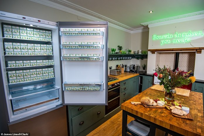 Finishing touches including a fully stocked cheese fridge, private cheese concierge and even a Boursin branded eye mask for a night filled with 'sweet dreams made of cheese.