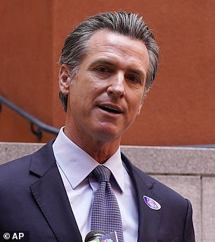 California Governor and #MeToo champion Gavin Newsom (pictured) accepted a $300 bottle of wine as a gift from the Democratic superlawyer hired to represent Harvey Weinstein