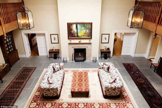 Inside Ardtalla on the Novar Estate. The converted stable block has nine 'handsome' suites and a billiards room