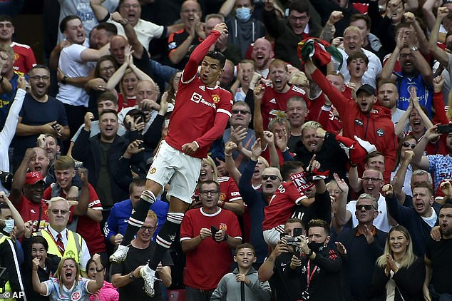 The Manchester United fans are delighted about the return of Cristiano Ronaldo
