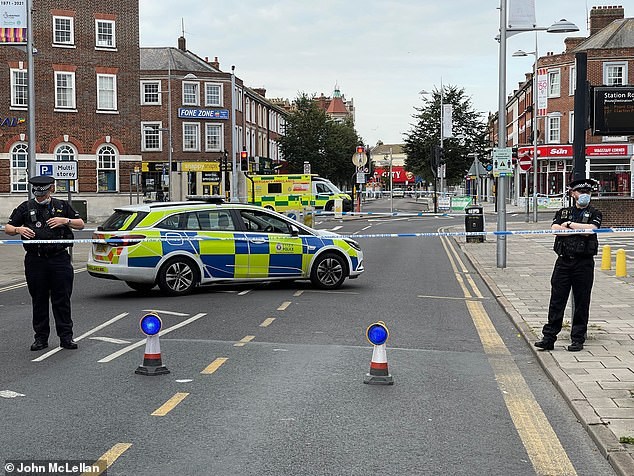 Essex Police at the scene of a serious incident in Clacton-on-Sea, Essex