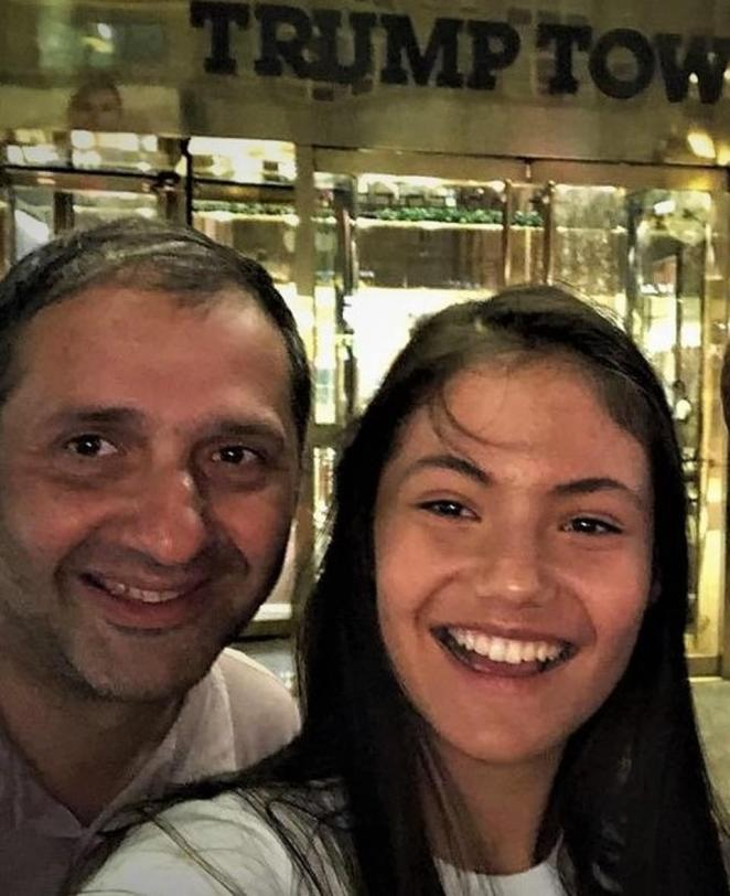 Ian Raducanu pictured with his daughter Emma Raducanu. He told her he was proud of her after her Wimbledon run
