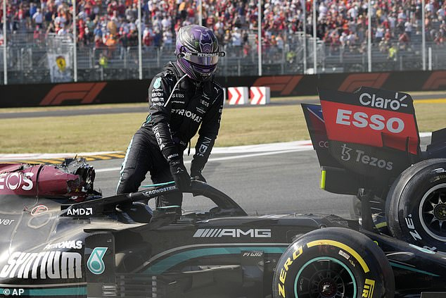 The Mercedes driver was ultimately unscathed despite the frightening incident at Monza