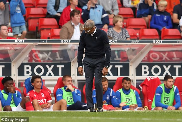 Chris Hughton's Nottingham Forest prop up the Championship with just one point in six games