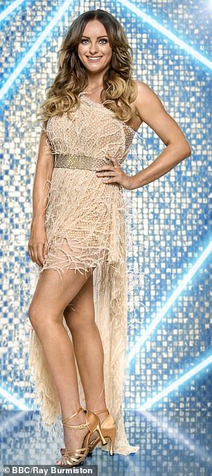 Dressy: The Corrie actress looked ready to take to the dancefloor