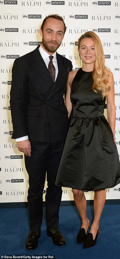 Pictured: James Middleton and Alizee Thevenet attend the UK Premiere of 'Very Ralph' at Royal Academy of Arts on November 14, 2019
