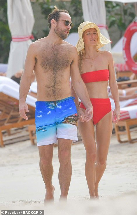 James Middleton and Alizee Thevenet were pictured vacationing in St. Barts in January 2020. They were due to get married last year but twice had to cancel their wedding due to Covid