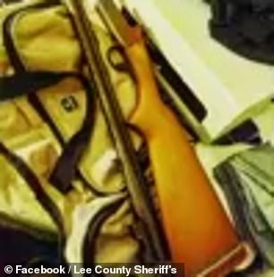 Pictured: Guns allegedly found at the students' homes