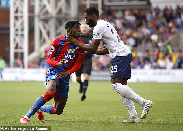 Japhet Tanganga was sent-off against Crystal Palace after letting Wilfred Zaha get in his head