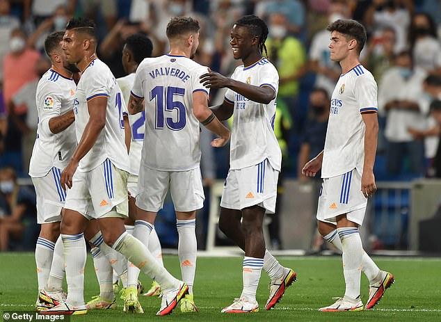 Debutant Eduardo Camavinga was also on the scoresheet after £27million move from Rennes