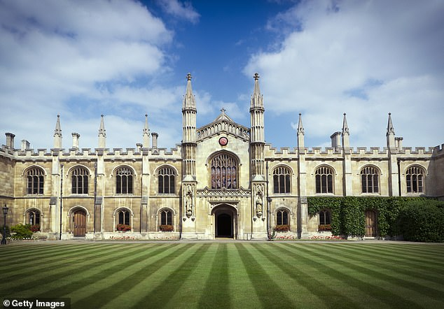 A Mail survey has found most of the Russell Group are bringing back face-to-face learning, but offering a ¿blended¿ model where some tuition stays online. Pictured,Corpus Christi, Cambridge
