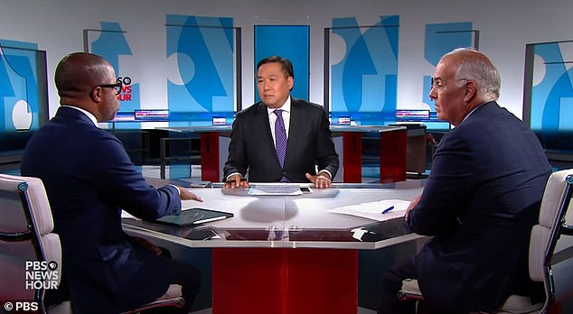 John Yang, center, who was hosting the interview, asked Capehart if he meant 'that other forces have changed politics more since 9/11 than 9/11'