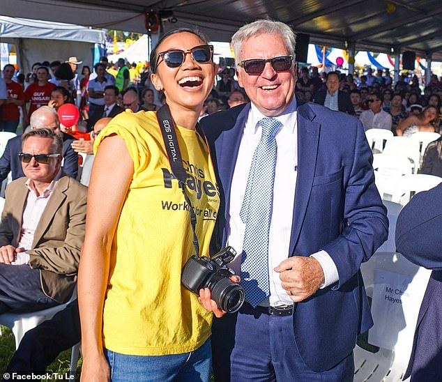 Tu Le (pictured with Fowler MP Chris Hayes) looked set to represent the Labor stronghold of Fowler but her chance was taken away by former NSW premier, Kristina Keneally