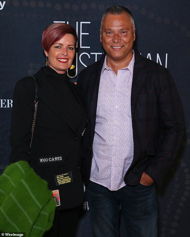 Moving: Stan Grant and Tracey Holmes are making a sea change after recently purchasing a penthouse apartment in Sydney's Coogee Beach. Pictured together at a screening in Sydney in August 2019