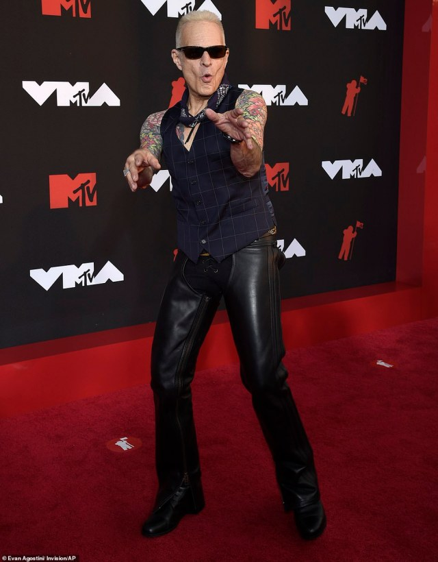 Rock icon: David Lee Roth was very excited to be there, making the most of his time on the red carpet