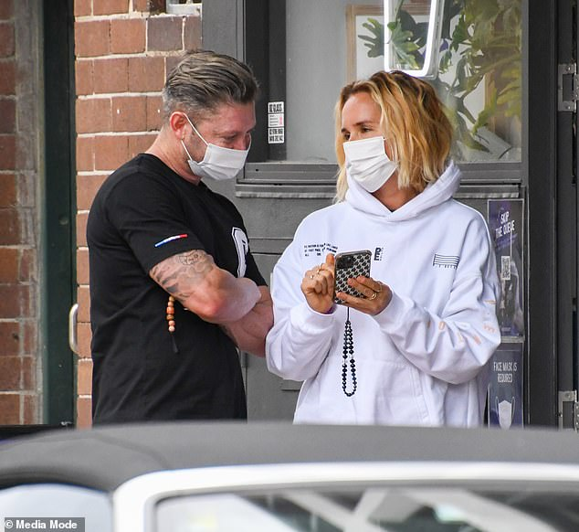 On-again, off-again: Michael Clarke and Pip Edwards have continued to fuel rumours they've reunited, after they were spotted picking up lunch together in Sydney on Monday
