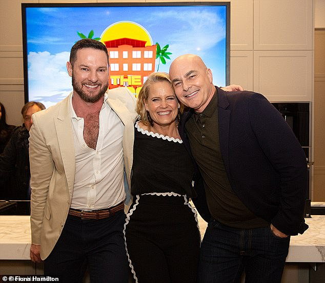Veteran judges: The negative tweets particularly came out in force during Sunday's bathroom reveal, with one posting, 'I mean are the judges correct with who wins at auction? They have terrible odds.' Pictured: judges Darren Palmer, Shaynna and Neale Whitaker