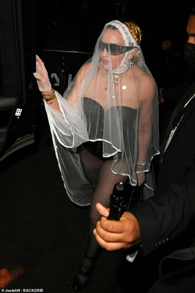 Here comes the bride:Following her racy performance as the opening act at the 2021 MTV Video Music Awards on Sunday night, Madonna was sure to turn heads once more as she hit a after party in New York City