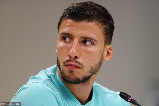 Shock:News of the split comes just days after defender Ruben called on Portugal to tighten up at the back after shipping four goals in as many games during their 2022 World Cup qualifying campaign