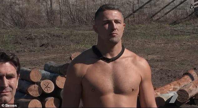 Chop chop: 'Dry yourself. Put your f**king clothes on,' instructed one of the Special Forces officer. 'Come on... It shouldn't take all f**king day,' they continued. Pictured: Sam Burgess