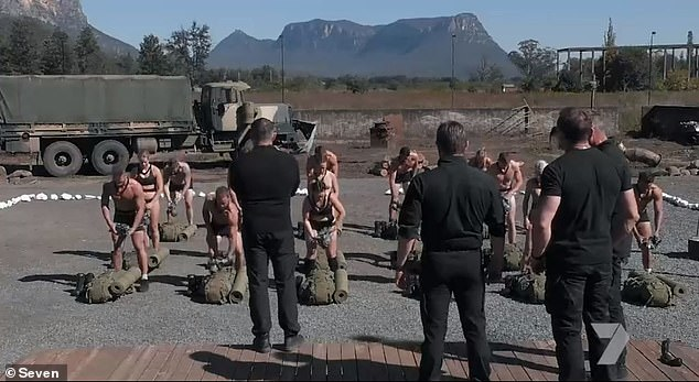 Confronting: Forced to change in front of each other out in the open, the men and women had no choice but to take their underwear off in front of their fellow comrades