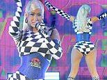 Iggy Azalea flaunts her famous curves in a bodysuit at Pitbull's I Feel Good tour in Texas