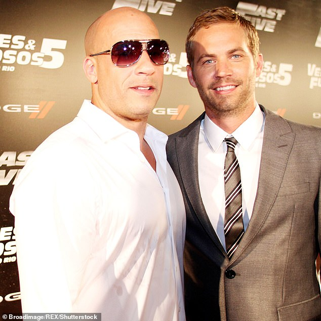 Close: Vin (R) and Paul (L) had been extremely close during filming and Vin revealed how much he missed his co-star as he attended the Fast and Furious 9 premiere in Hollywood in June (pictured above in 2011)