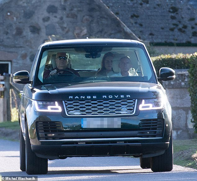On Tuesday, the Queen's son (pictured) travelled up to the monarch's 50,000-acre Balmoral estate - where she is currently on holiday - to allegedly avoid further attempts to serve sexual assault papers at his mansion in the Berkshire town. He was joined by Sarah