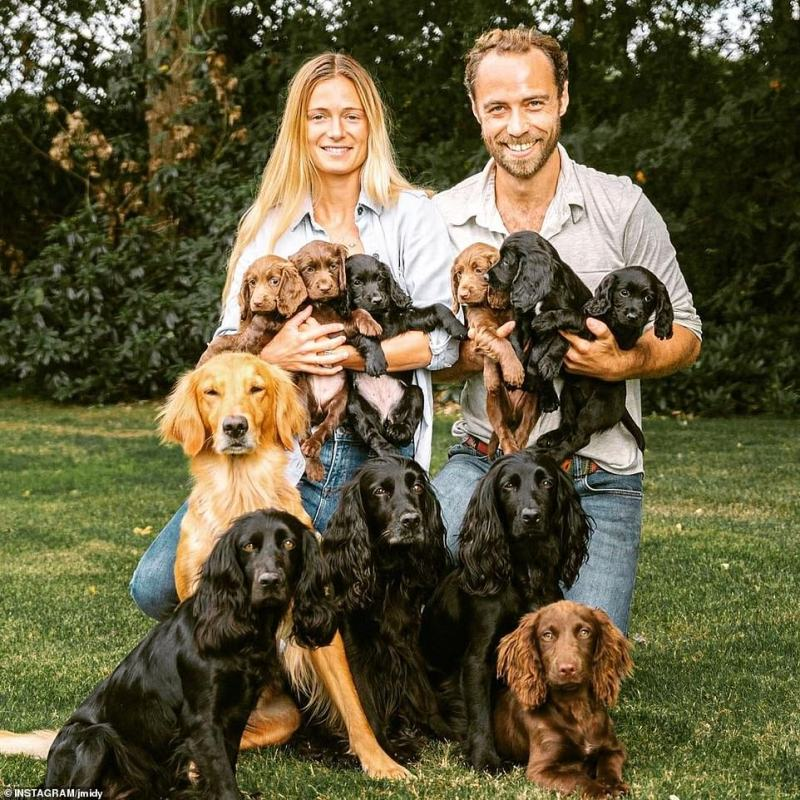 The finance guru shares James' love of dogs, with the pair often sharing snaps of them out and about with the entrepreneur's beloved pets